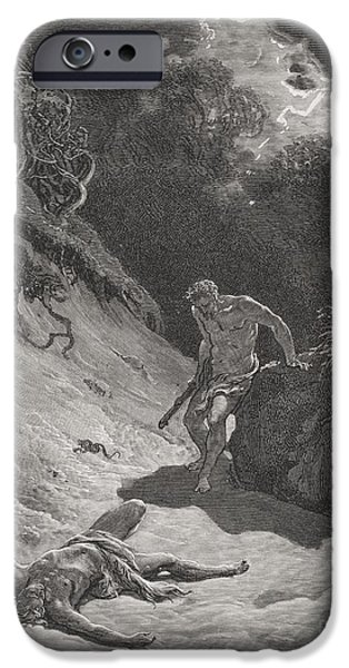 The Death Of Abel IPhone Case by Gustave Dore