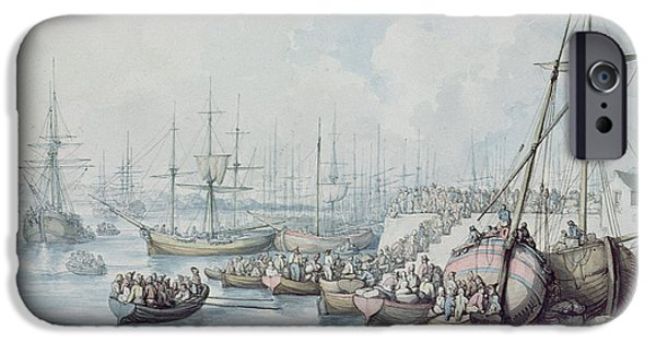 The Disembarkation Of The Royalists Of Toulon At Southampton In 1794 IPhone Case by Thomas Rowlandson