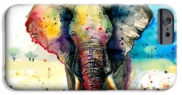 The Elephant - Xxl Format IPhone Case by Tiberiu Soos