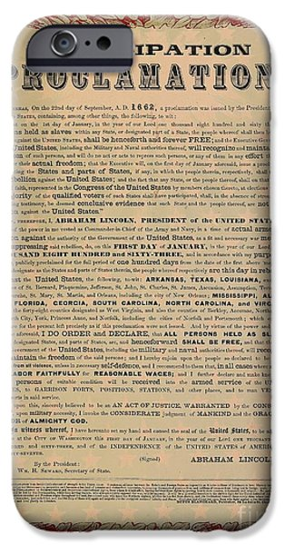The Emancipation Proclamation IPhone Case by American School