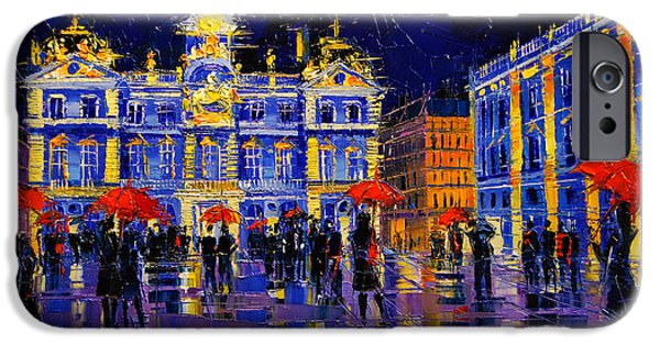 The Festival Of Lights In Lyon France IPhone Case by Mona Edulesco
