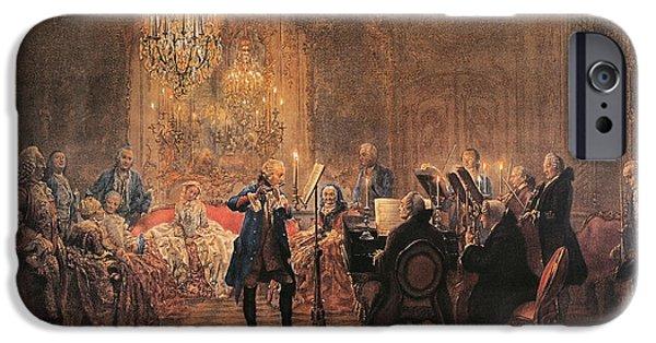 The Flute Concert IPhone 6s Case by Adolph Friedrich Erdmann von Menzel