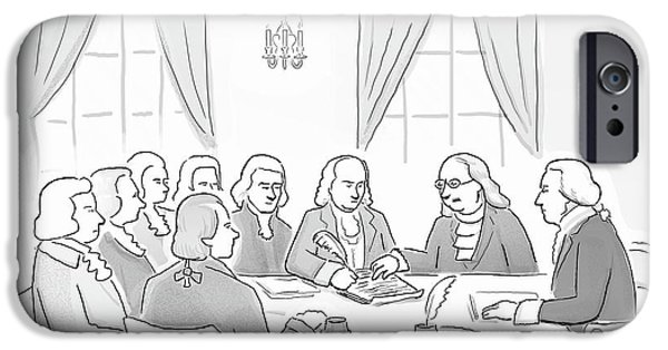 The Founding Fathers Drafting The Constitution IPhone Case by Paul Noth