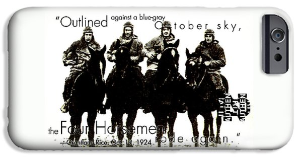 The Four Horsemen Of Notre Dame IPhone Case by David Patterson