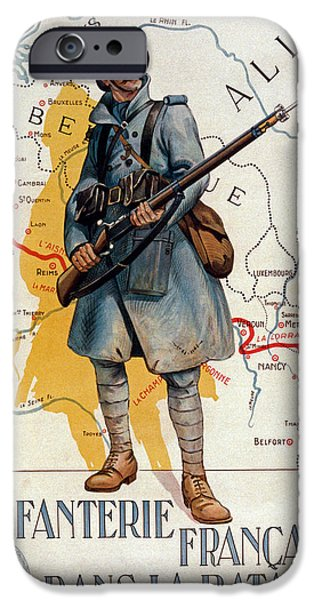 The French Infantry In The Battle IPhone Case by H Delaspre
