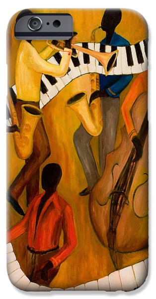 The Get-down Jazz Quintet IPhone Case by Larry Martin