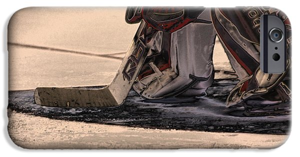 The Goalies Crease IPhone Case by Karol Livote