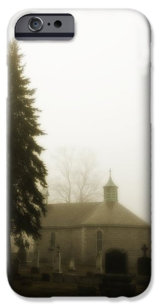 The Graveyard In The Fog  IPhone Case by Gothicolors Donna Snyder