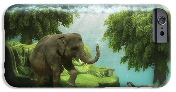 The Green Room IPhone Case by Martine Roch