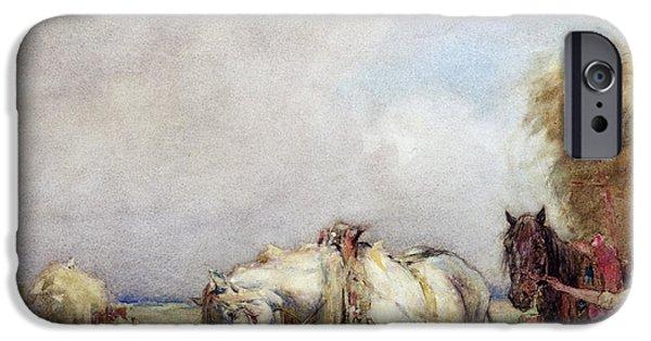 The Hay Wagon IPhone Case by Nathaniel Hughes John Baird