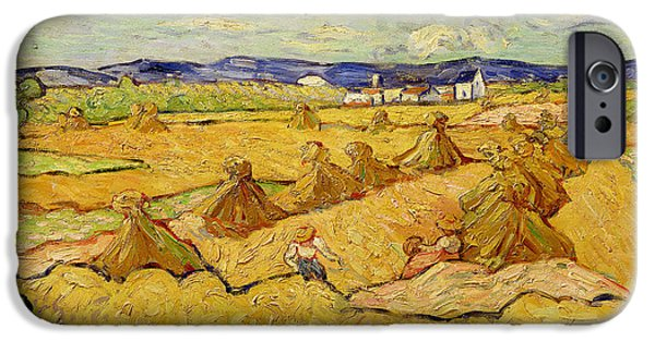 The Haystacks IPhone Case by Vincent van Gogh