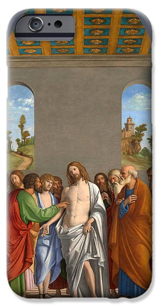 The Incredulity Of Saint Thomas IPhone Case by Giovanni Battista Cima
