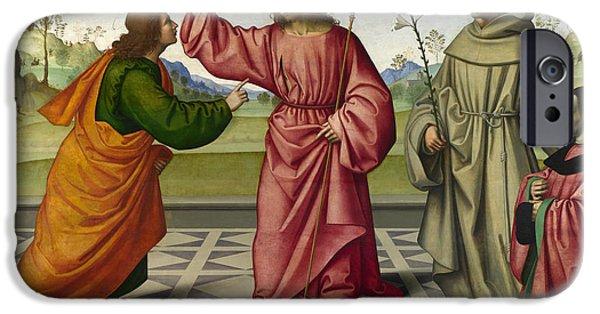 The Incredulity Of Saint Thomas IPhone Case by Giovanni Battista da Faenza
