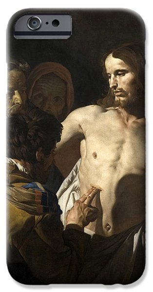 The Incredulity Of Saint Thomas IPhone Case by Matthias Stom