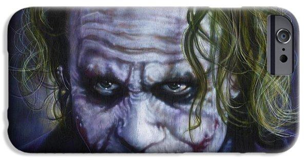 The Joker IPhone Case by Tim  Scoggins