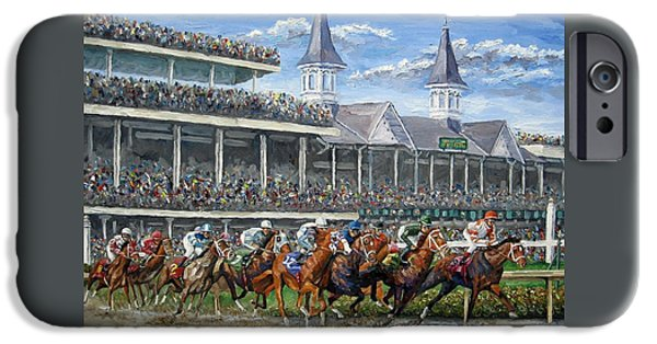 The Kentucky Derby - Churchill Downs IPhone Case by Mike Rabe