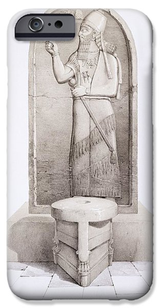 The King And Sacrificial Altar, Nimrud IPhone Case by English School