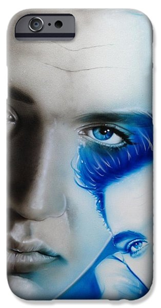 Elvis Presley - 'the King' IPhone Case by Christian Chapman Art