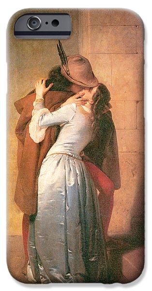 The Kiss IPhone Case by Francesco Hayez