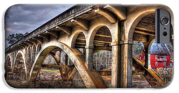 Millmore Mill Bridge Shoulderbone Creek Hancock County IPhone Case by Reid Callaway