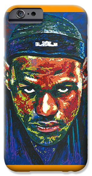 The Lebron Death Stare IPhone 6s Case by Maria Arango