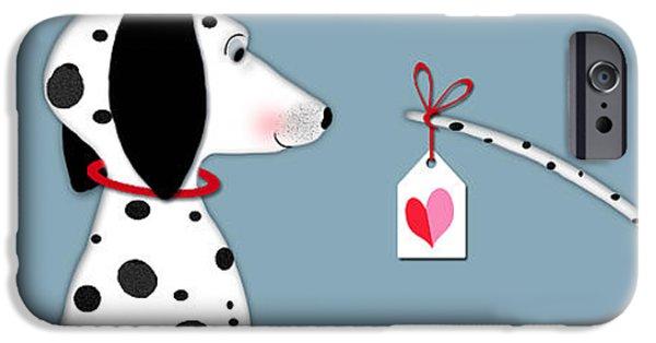 The Letter D For Dalmatian IPhone Case by Valerie Drake Lesiak