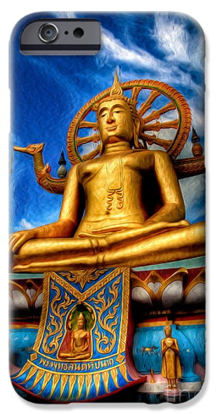 The Lord Buddha IPhone Case by Adrian Evans