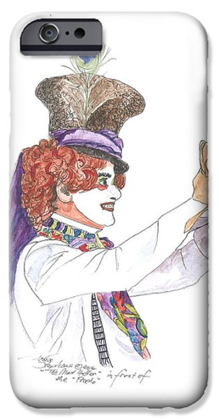 The Mad Hatter IPhone Case by Petra Stephens