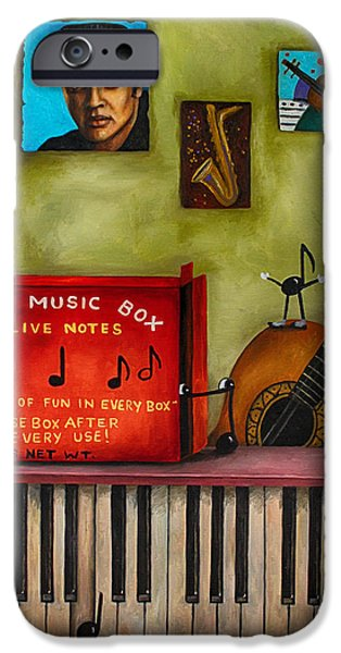 The Music Box Edit 3 IPhone Case by Leah Saulnier The Painting Maniac