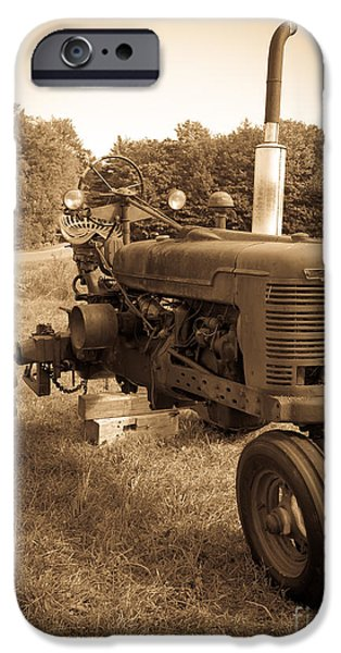 The Old Tractor IPhone Case by Edward Fielding