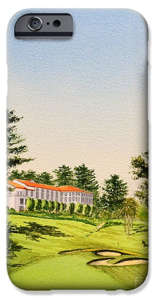 The Olympic Golf Club - 18th Hole IPhone Case by Bill Holkham