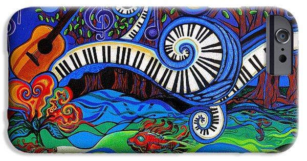 The Power Of Music IPhone Case by Genevieve Esson