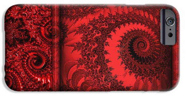 The Proper Victorian In Red  IPhone Case by Wendy J St Christopher