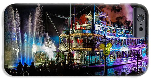 The Mark Twain Disneyland Steamboat  IPhone Case by Scott Campbell