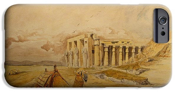 The Ramesseum Theban Necropolis Egypt IPhone Case by Juan  Bosco