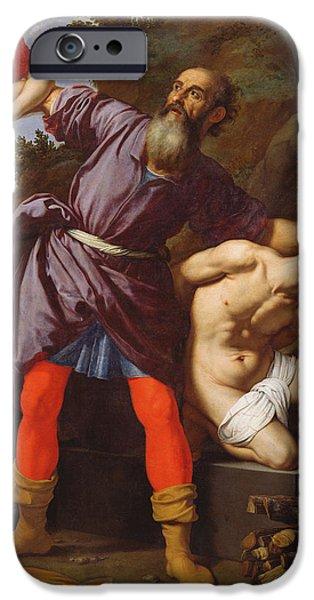 The Sacrifice Of Abraham IPhone Case by Cristofano Allori