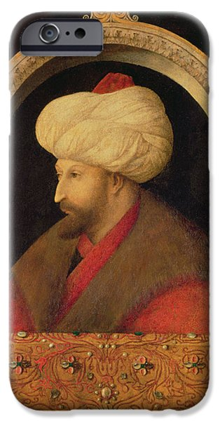 The Sultan Mehmet II 1432-81 1480 Oil On Canvas IPhone Case by Gentile Bellini