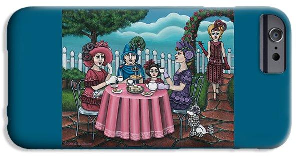 The Tea Party IPhone Case by Victoria De Almeida