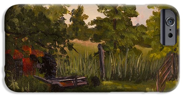 The Tractor By The Gate IPhone Case by Janet Felts