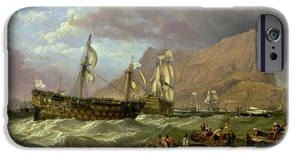 The Victory Towed Into Gibraltar IPhone Case by Clarkson R A Stanfield