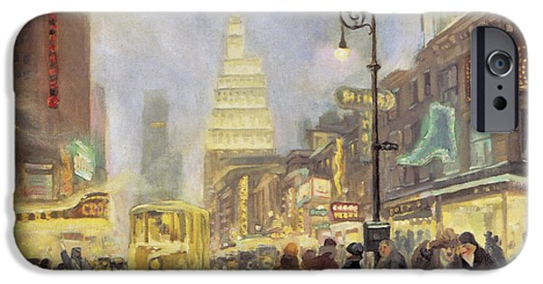 The White Way IPhone Case by John Sloan