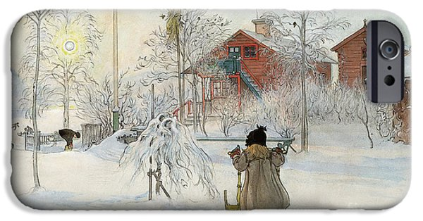 The Yard And Wash House IPhone Case by Carl Larsson