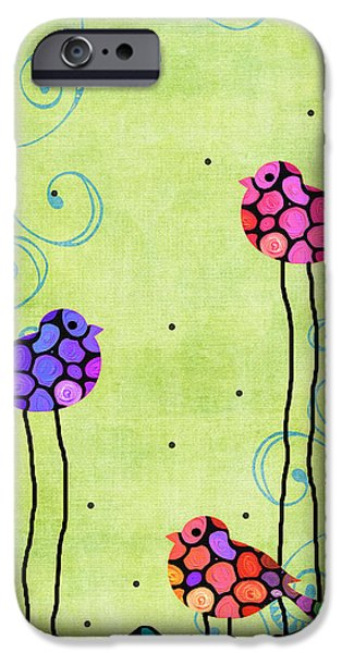 Three Birds - Spring Art By Sharon Cummings IPhone 6s Case by Sharon Cummings