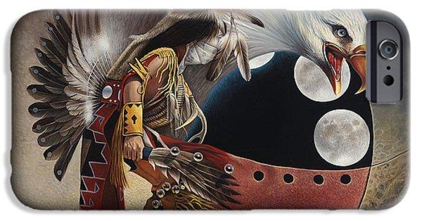 Three Moon Eagle IPhone Case by Ricardo Chavez-Mendez