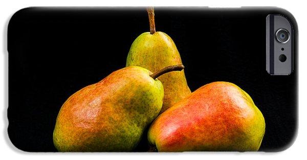 Three Pears IPhone Case by Jon Woodhams