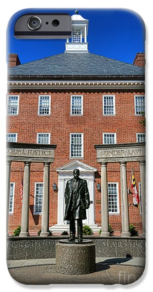 Thurgood Marshall Memorial IPhone Case by Olivier Le Queinec