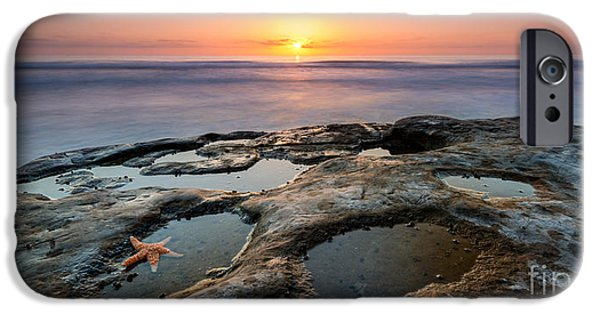 Tide Pool Sunset 16x8 Crop  IPhone Case by Michael Ver Sprill