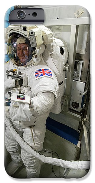 Tim Peake Preparing For Spacewalk IPhone 6s Case by Nasa
