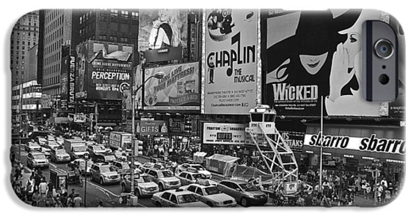 Times Square Bw IPhone Case by Galexa Ch