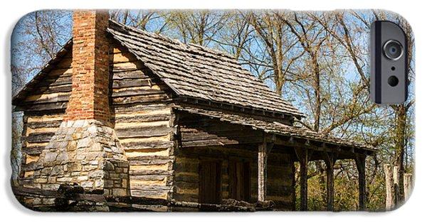 Tipton Hays Log Cabin 10 IPhone Case by Douglas Barnett